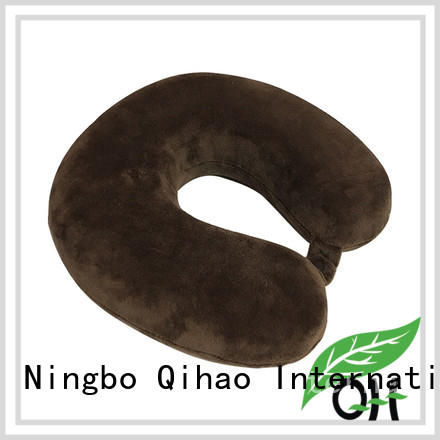 Qihao custom best neck pillow for flying suppliers for a rest