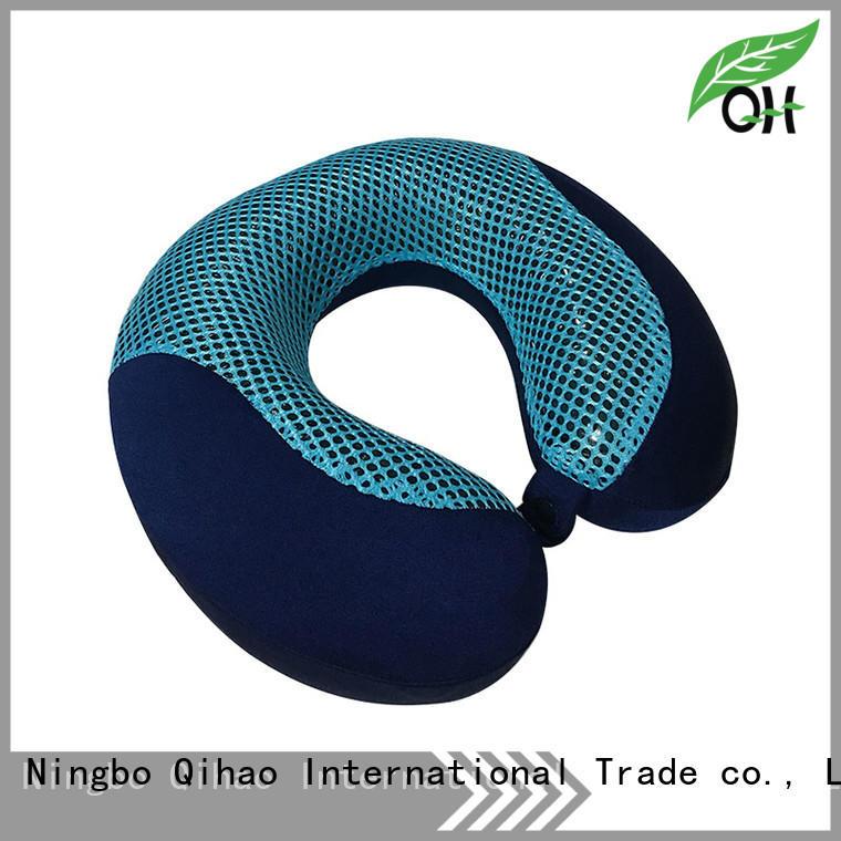 best cool gel memory foam pillow bamboo for travel Qihao