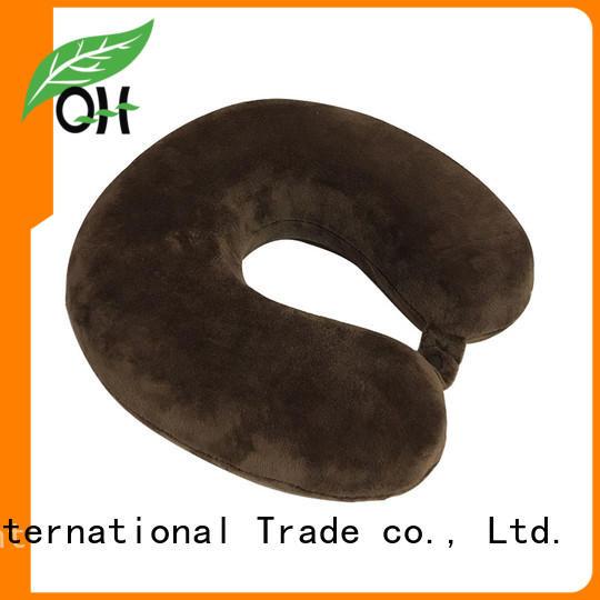 Qihao travel memory foam travel pillow supply for sleeping