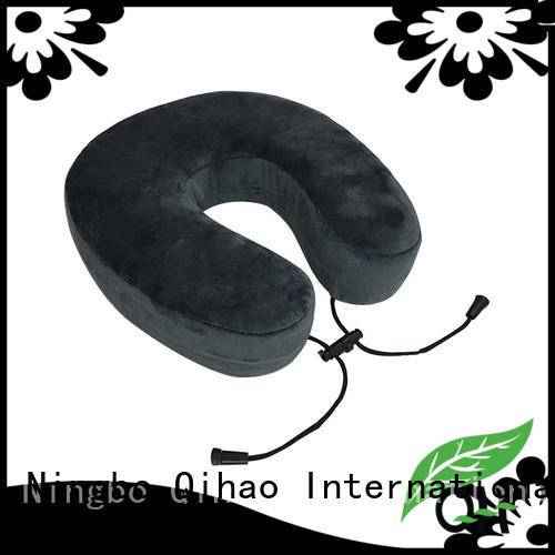 qihao world's best memory foam travel pillow rope for office Qihao