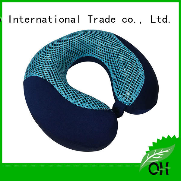 Qihao bamboo neck pillow with cooling gel for business for business trip