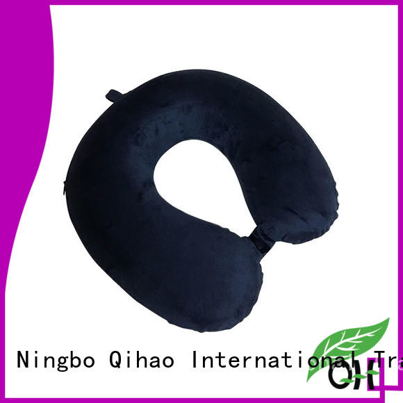 Qihao Custom u shaped neck pillow company for a rest