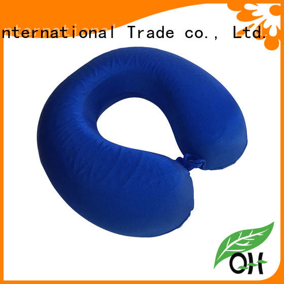 Qihao custom neck pillow with cooling gel for business for business trip