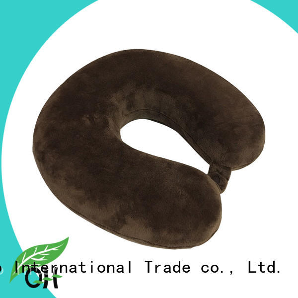 Qihao lycra memory foam travel neck pillow for business for a rest