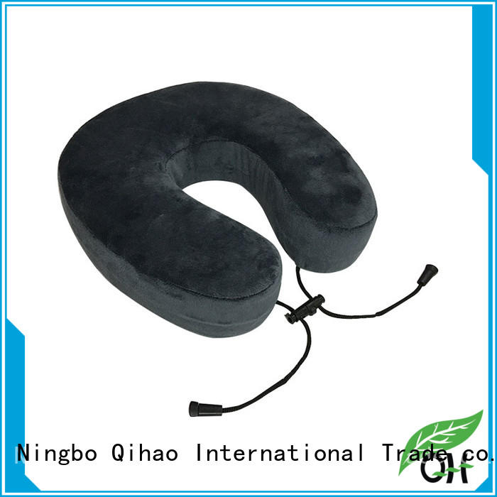 Cool touch travel neck pillow memory fabric for business trip