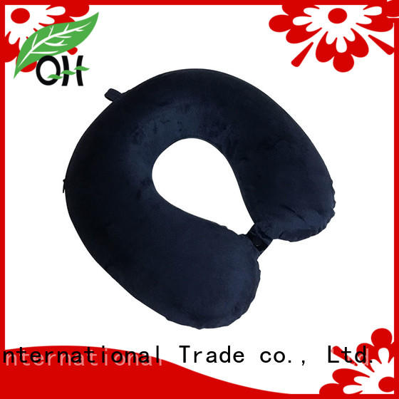 OEM UFO Memory foam travel pillow, velvet or lycra cover, MF-3133 UFO Ningbo Qihao