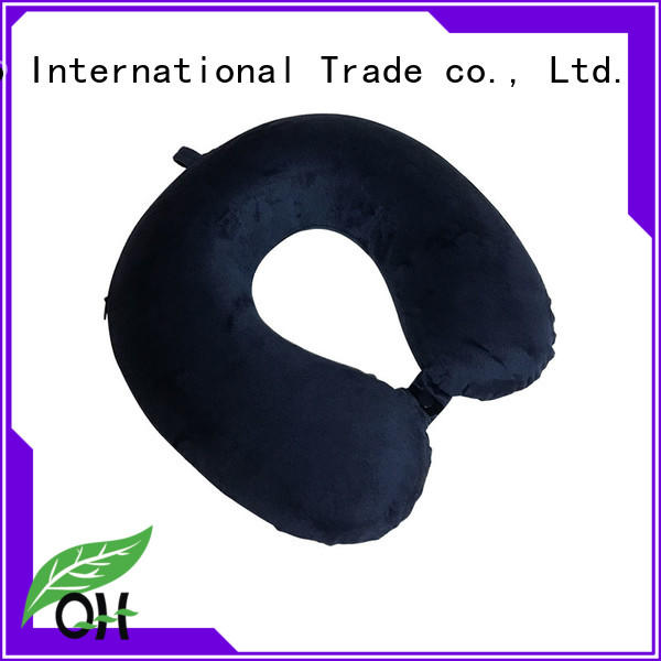 luxury best neck pillow for flying velvet for a rest Qihao