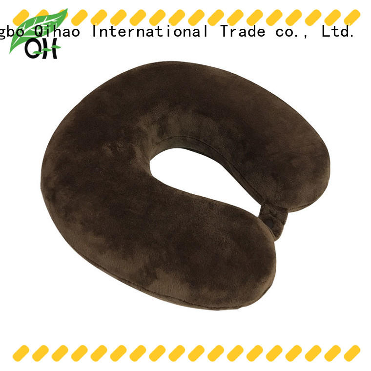 Qihao portable memory foam neck pillow travel suppliers for travel