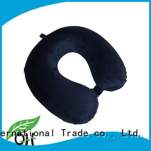 Qihao portable memory foam travel pillow factory for business trip