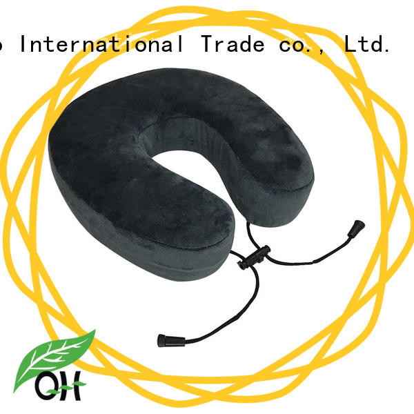Qihao OEM memory foam travel neck pillow design for office