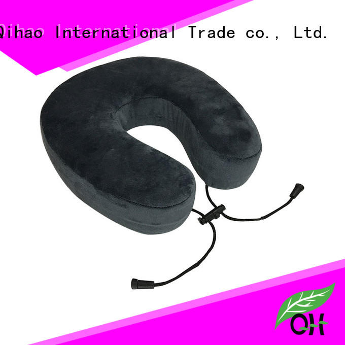 Wholesale memory foam travel neck pillow snap factory for business trip