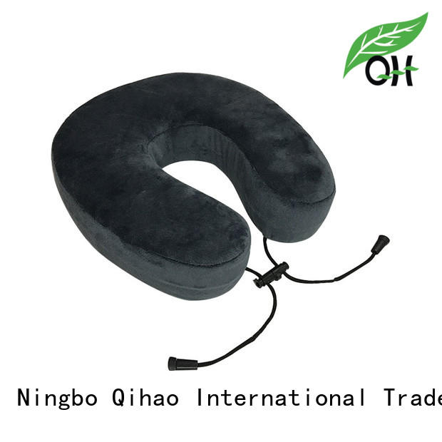 Qihao portable memory foam travel pillow for a rest