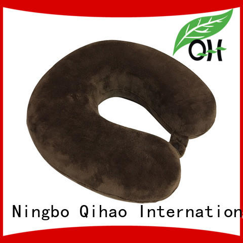 Qihao OEM u shaped neck pillow ODM service  for a rest