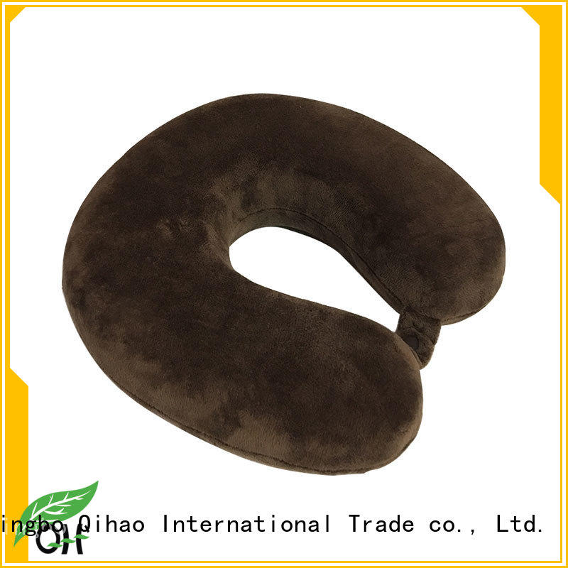 Qihao oem memory foam travel neck pillow for business for business trip