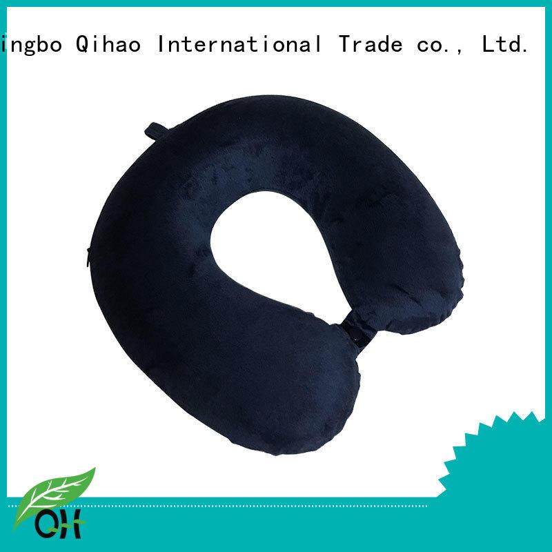 Qihao environmental memory foam neck pillow travel for business for sleeping