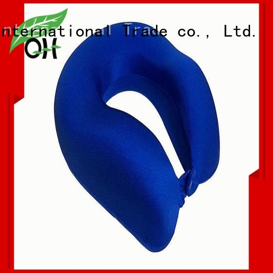 Qihao rope memory foam neck pillow travel suppliers for sleeping