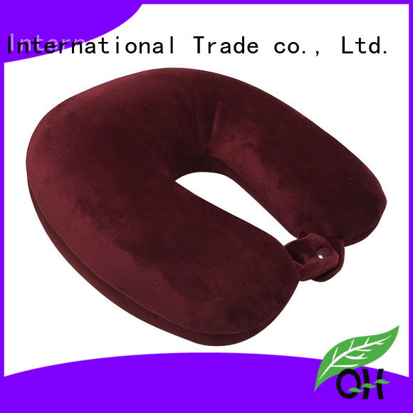 Qihao color travel size memory foam pillow factory for businessmen