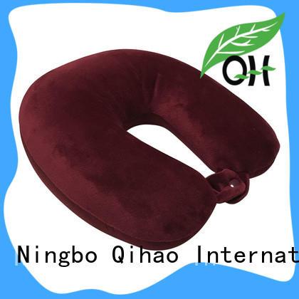 Qihao microbead microbead travel pillow factory price for businessmen