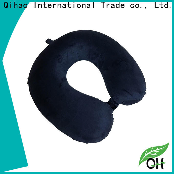 Qihao luxury memory foam travel neck pillow manufacturers for travel