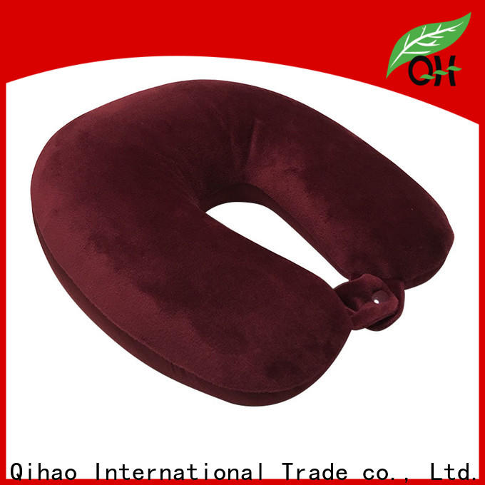 Qihao mb302 best memory foam travel pillow supply for a rest