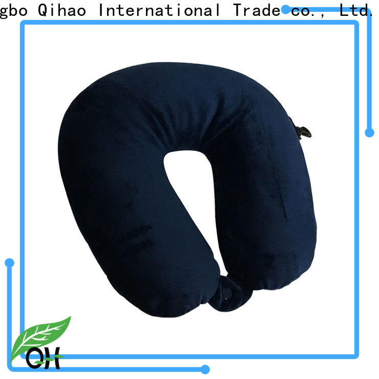 Qihao spandex best airplane neck pillow for business for a rest