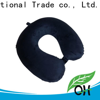 Qihao velvet u shaped neck pillow suppliers for business trip