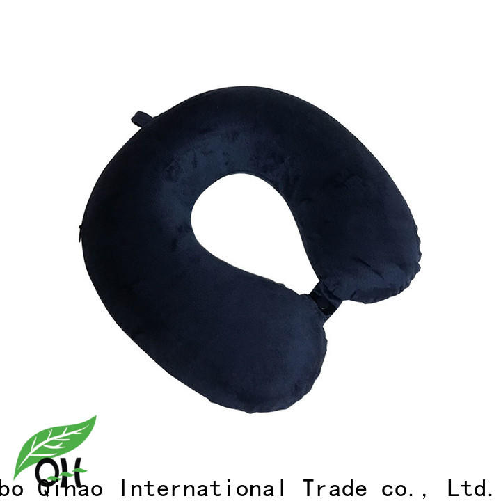 New memory foam travel neck pillow snap suppliers for sleeping