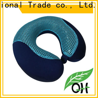 Qihao mesh cooling gel travel pillow supply for sleeping