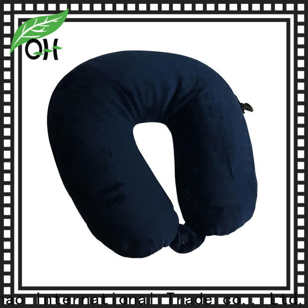 Qihao micro best neck support travel pillow manufacturers for businessmen