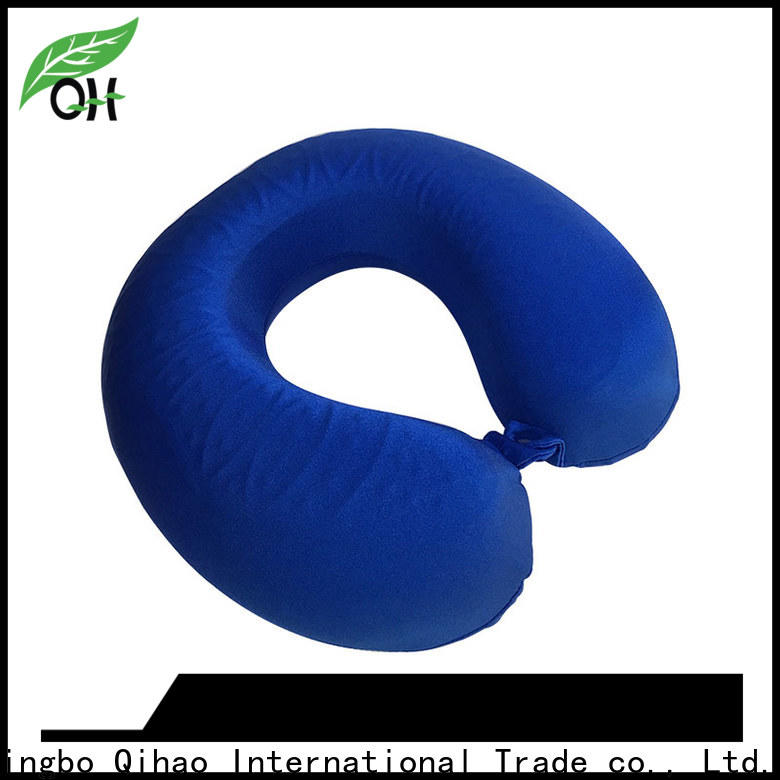 Qihao bamboo cooling travel neck pillow manufacturers for travel