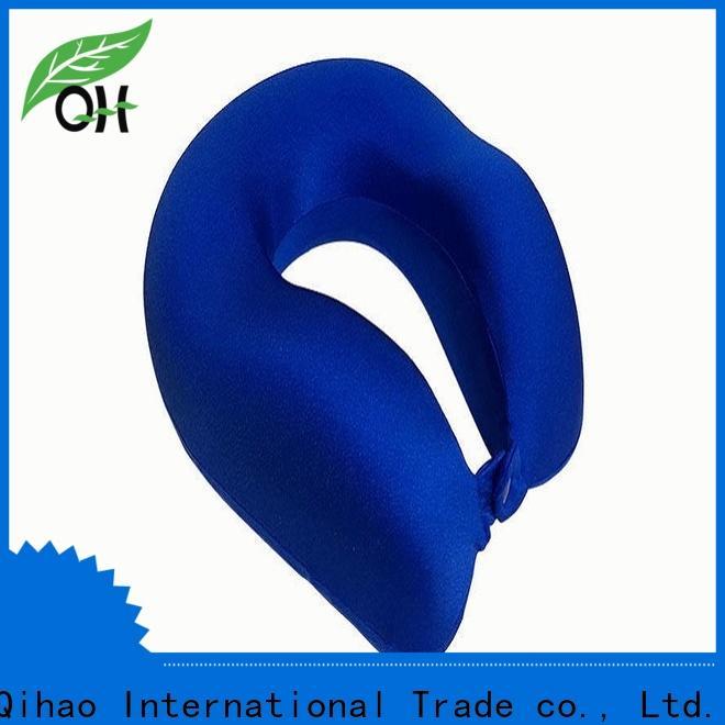 Qihao velvet memory foam travel pillow factory for a rest