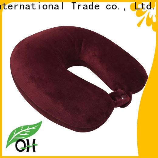 Qihao fabric travel size memory foam pillow suppliers for businessmen