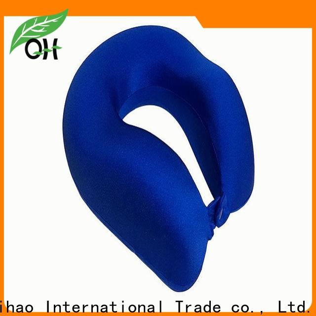 Wholesale memory foam travel neck pillow adjustable for business for business trip