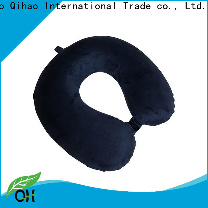 Qihao rope memory foam travel pillow factory for a rest