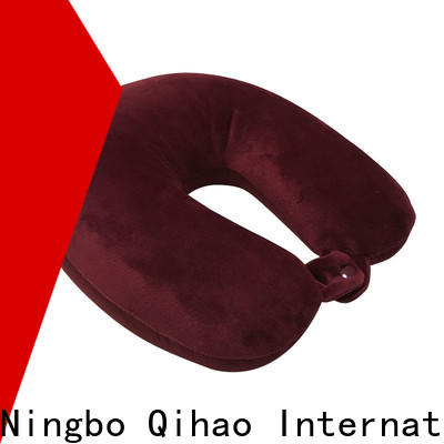 Qihao button travel size memory foam pillow company for a rest