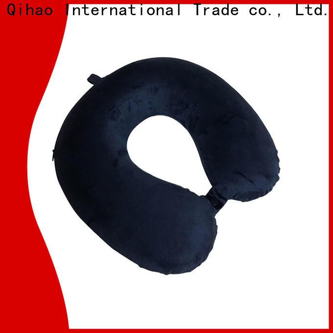 Qihao luxury memory foam neck pillow travel company for sleeping
