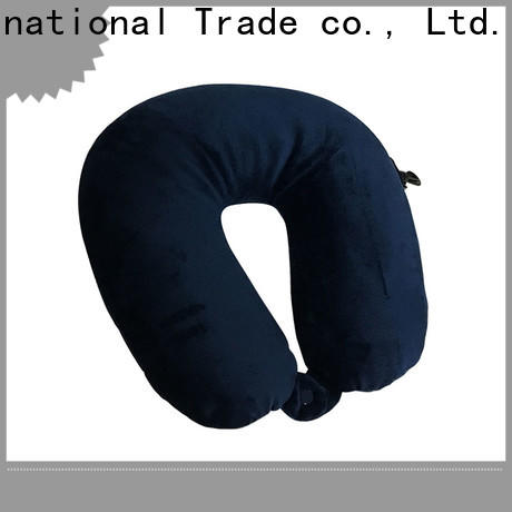 Qihao velvet best travel pillow for airplane suppliers for businessmen
