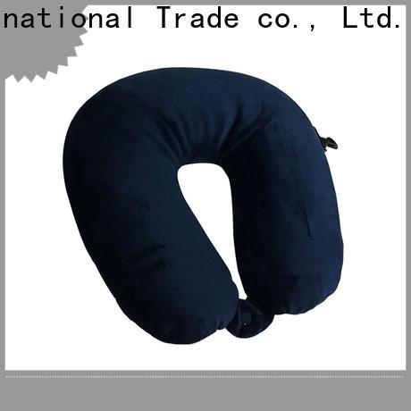 Qihao velvet best travel pillow for airplane suppliers for businessmen