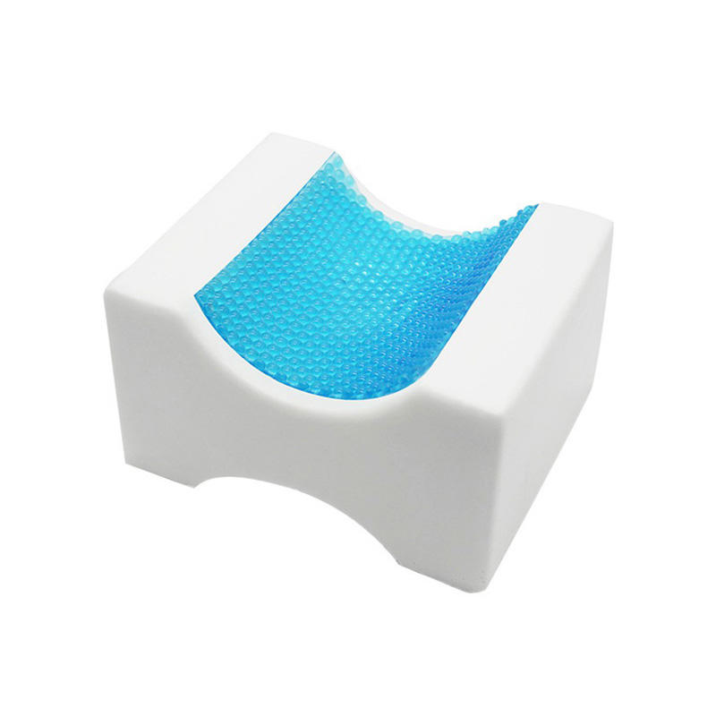 Cool gel leg / knee memory foam pillow / hip leg alignment pillow / orthopedic cushion for side sleeper