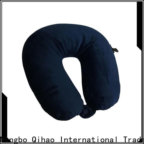 Qihao color best memory foam travel pillow company for businessmen