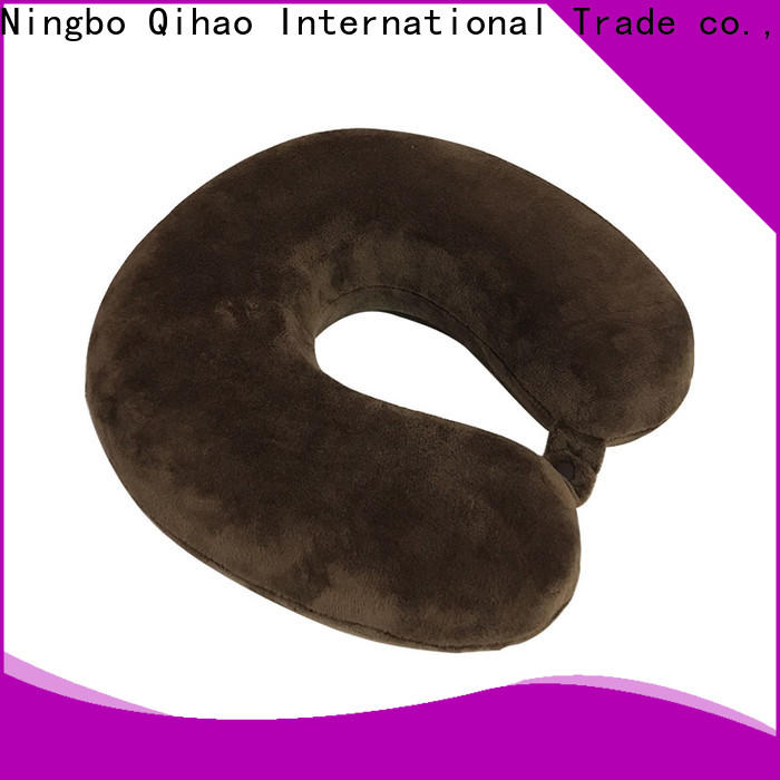 Qihao luxury memory foam travel neck pillow manufacturers for sleeping