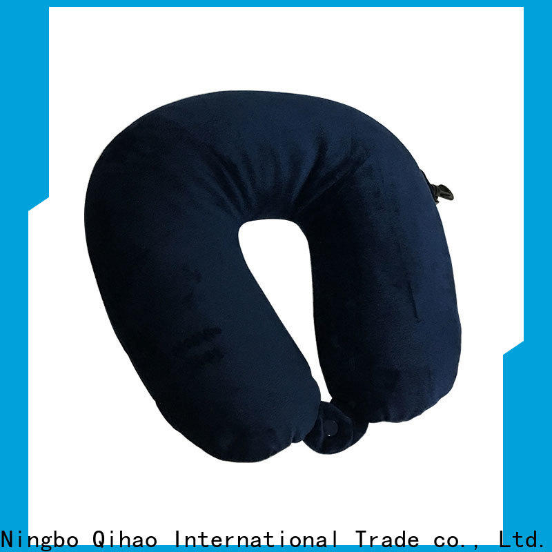 Qihao spandex best memory foam travel pillow suppliers for travel