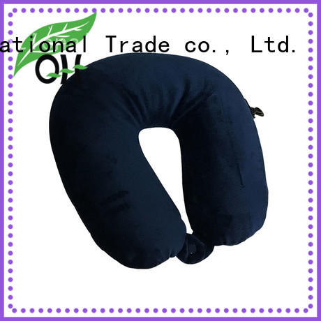 Qihao environmental best memory foam travel pillow manufacturers for student