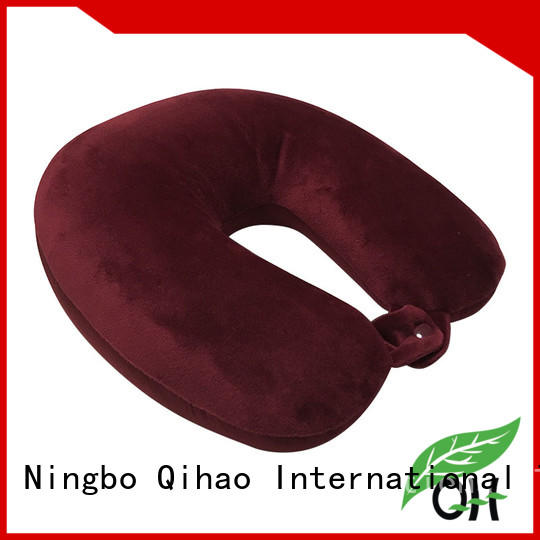 Qihao Cool touch microbead travel pillow manufacturers for sleeping