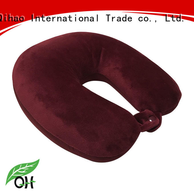 Qihao shape u shaped travel pillow suppliers for travel