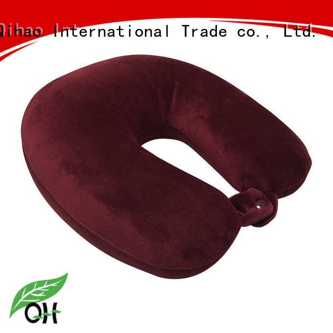 Qihao shape best memory foam travel pillow for business for sleeping