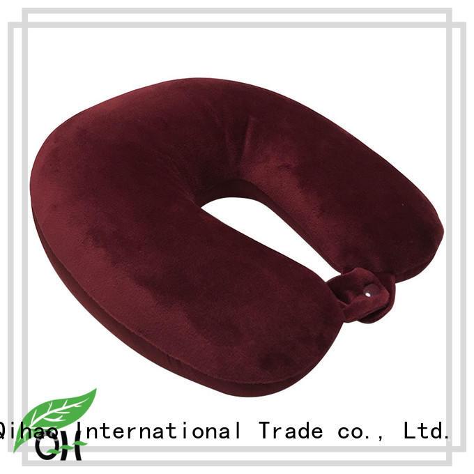 design best memory foam travel pillow factory price for sleeping Qihao