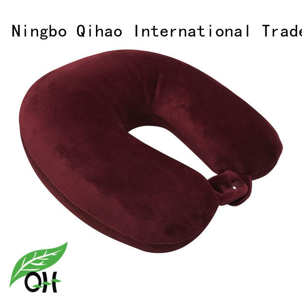 Qihao micro travel size memory foam pillow manufacturers for travel