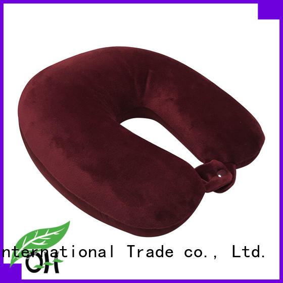 Cool touch neck rest pillow for travel shape factory for sleeping
