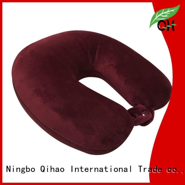 OEM best air travel pillow free design for businessmen Qihao